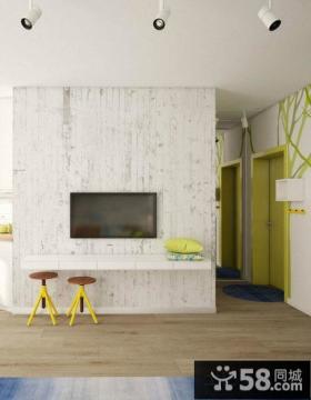 简易客厅电视背景墙设计图片