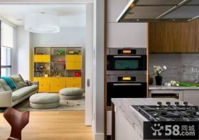 纽约时尚厨房客厅隔断设计