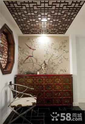 古香古韵中式玄关设计