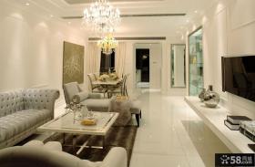 现代家居样板间客厅装修效果图