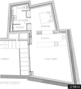 复式别墅户型平面图