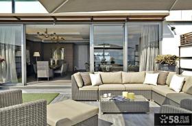 欧式风格别墅庭院客厅装修设计