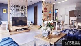 现代中式风格公寓室内效果图