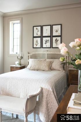 卧室床头照片背景墙装修效果图