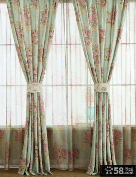 田园风格阳台窗帘图片