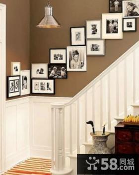 楼梯间照片墙图片