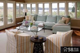 含有现代元素的美式风格装修客厅图片