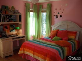 现代欧式女生卧室装修设计图