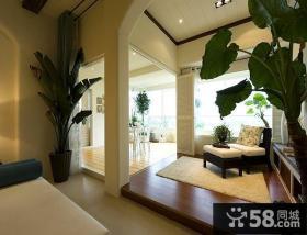 美式风格室内阳台装潢设计效果图