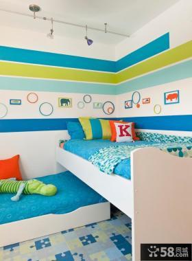 现代简约儿童房间装修图片