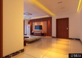 现代中式客厅吊顶装修效果图 中式装修效果图大全2013图片