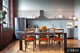 美式复古风格家装厨房设计