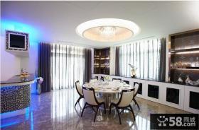 欧式大餐厅圆形吊顶造型设计效果图欣赏