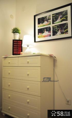 室内实木玄关柜装饰效果图片