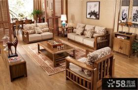 别墅家居中式沙发图片