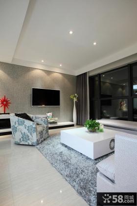 极简风格客厅电视背景墙效果图片