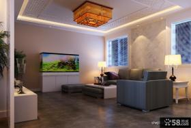 新中式客厅沙发背景墙效果图片