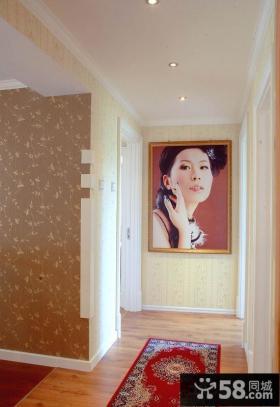 玄关墙装饰画效果图