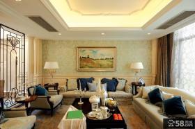 2013欧式客厅沙发壁纸背景墙装修效果图