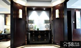 现代古典风格复式玄关装饰效果图