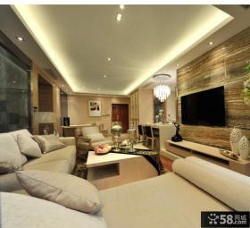 现代简约家居客厅电视背景墙效果图