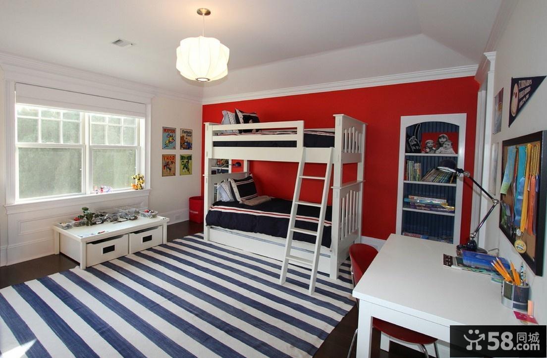 现代风格上下铺儿童房装修效果图大全2012图片