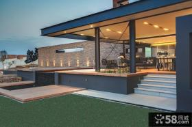 现代豪华别墅外观设计效果图片