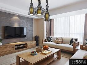 优质简约中式客厅电视背景墙效果图