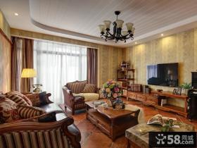 二居室整体客厅电视背景墙效果图