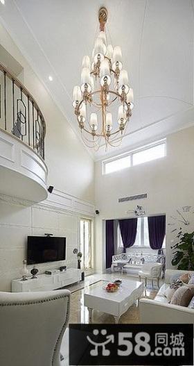 白色纯洁简欧复式家装