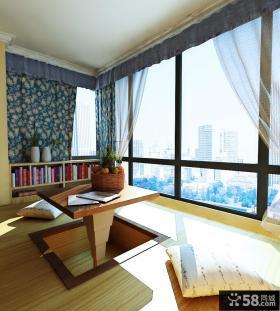 阳台飘窗榻榻米装修设计效果图