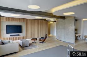 现代豪华时尚三居客厅电视背景墙设计效果图