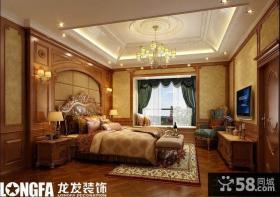 欧式别墅主卧室装修效果图大全2013图片