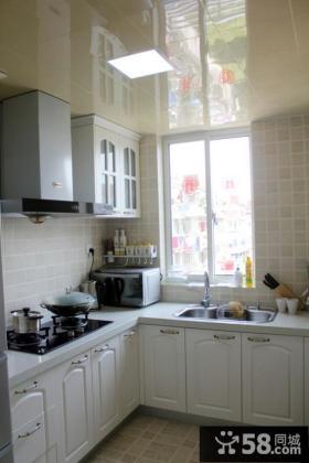 北欧开放式厨房装修效果图