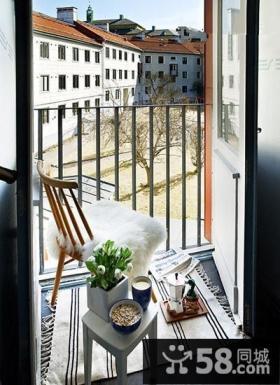 家庭小阳台设计效果图
