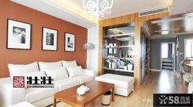 现代客厅沙发背景墙隔断效果图大全2013图片