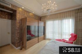 北欧室内设计卧室窗帘图片大全2014