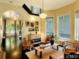 80平米小户型装修效果图 复古客厅装修效果图