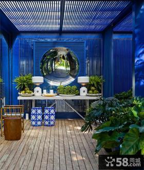 别墅阳台花园设计实景图