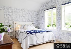 欧式阳光别墅卧室墙纸效果图