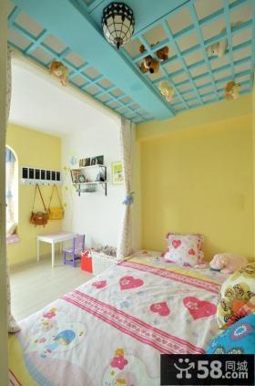 蓝色地中海小户型儿童房间装饰