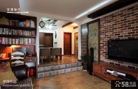美式客厅电视背景墙装修设计图