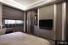 现代卧室电视背景墙装修图