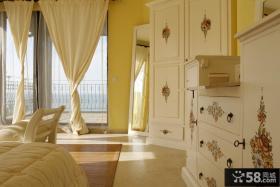 简约欧式别墅卧室彩绘家具效果图