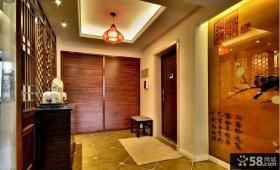 中式风格别墅玄关家装效果图