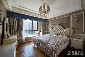欧式豪华卧室飘窗图