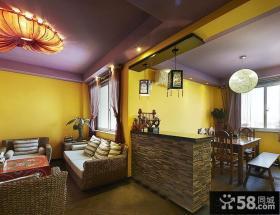 藏式风情餐厅客厅隔断设计