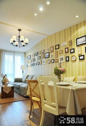 客餐厅照片墙设计效果图