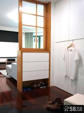 小户型客厅实木柜隔断效果图