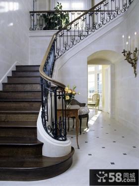 家装豪华别墅楼梯图片大全欣赏